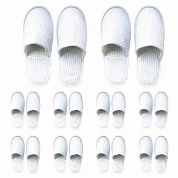 10 Pairs Disposable Slippers, Thick Soft Cotton Velvet Hotel