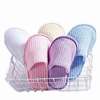 5 Pairs SPA Slippers,Assorted Color,Closed toe for