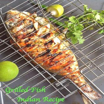 Grilled Fish Indian Recipe has all the Indian flavours & spices that penetrate deep into the fish m