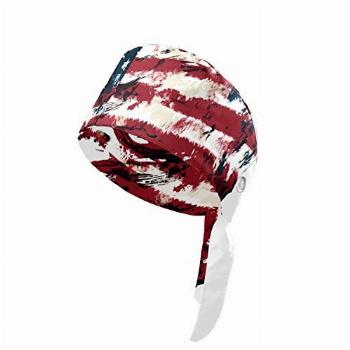 J.COXLOD Grunge Style American Flag Printed Working Cap with