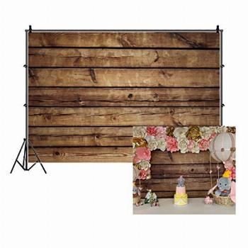 LFEEY 10x8ft Wood Backdrops for Photography Grunge Wood
