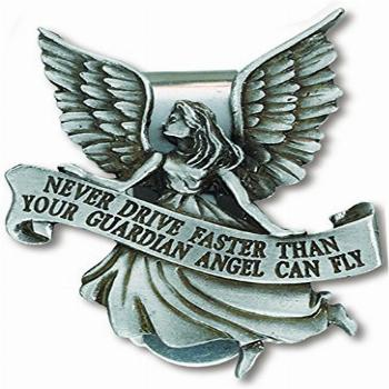 Never Drive Faster Than Your Guardian Angel Can Fly Pewter