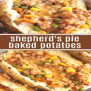 Shepherd's Pie Baked Potatoes | Dinner Recipe | Everything you love about the classic shepherd's pi