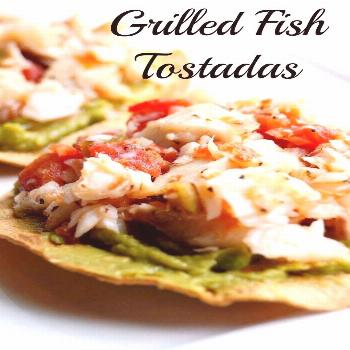 These Healthy Grilled FIsh Tostadas for 21 Day Fix and Weight Watchers are a delicious summer dinne