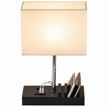 USB Table Lamp, Briever Multi-Functional Desk Lamp with 3