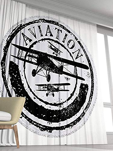Grunge Curtains,Soundproof Blackout Curtains for Bedroom